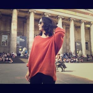 UO Oversized Sweater (deep orange)